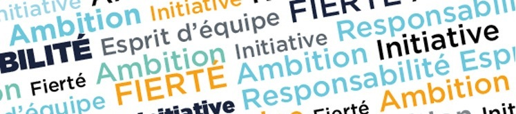 Fierté, Ambition, Initiative, Responsabilité, Esprit d'équipe