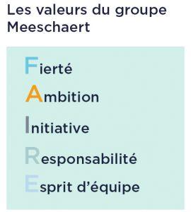 Les valeurs du groupe Meeschaert